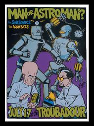 Coop Man or Astroman Silkscreen Concert Poster 1996 Image