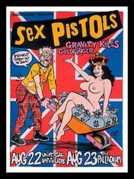 Coop Sex Pistols Silkscreen Concert Poster 1996 Image
