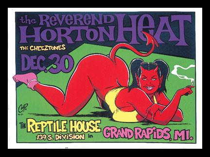Coop Reverend Horton Heat  Silkscreen Concert Poster 1996 Image