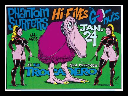 Coop Phantom Surfers, Go-Nuts  Silkscreen Concert Poster 1997 Image