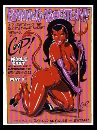 Coop Banned In Boston Silkscreen Poster 1998 Image