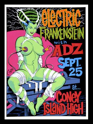 Coop Electric Frankenstein Silkscreen Concert Poster 1998 Image