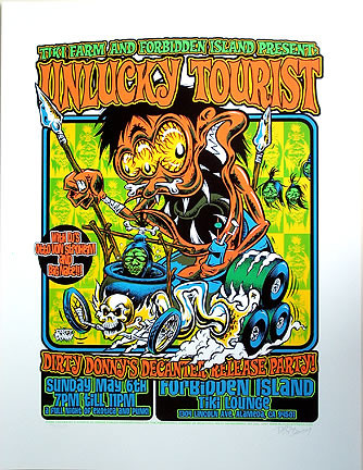 Dirty Donny Tiki Farm Decanter Party Silkscreen Poster 2007 Image