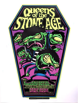Dirty Donny Queens of the Stone Age Silkscreen Concert Poster 2007 Image