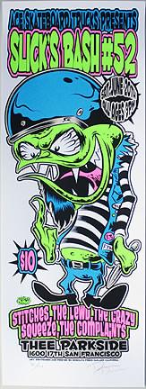 Dirty Donny Slicks Bash Silkscreen Concert Poster 2009 Image