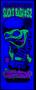 Blacklight Image of the Dirty Donny Slicks Bash Silkscreen Concert Poster 2009