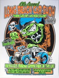 Dirty Donny Long Beach Car Show Silkscreen Concert Poster 2009 Image