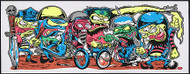 Dirty Donny Motor Cycle Gang Silkscreen Art Print Poster 2009 Image