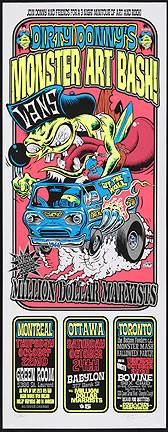 Dirty Donny Monster Art Bash Canadian Tour Silkscreen Poster 2009 Image