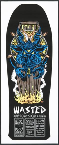 Dirty Donny Monster Revolt Book Launch Canadian Silkscreen Tour Poster 2010 Image