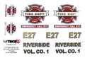 MyTrickRC - Fire Truck Decal Set - Realistic 1:10 Scale Decal - ST2