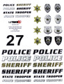 MyTrickRC - Police / Sheriff Decal Set - Realistic 1:10 Scale Decal - ST3