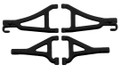 RPM RC Products - Black Fr Up/low A-arms 1/16 Erevo - 80692