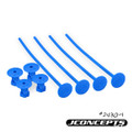 J Concepts - 1/10th Off-Road Tire Stick, Holds 4 Mounted Tires, Blue - 24301