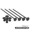 J Concepts - 1/10th Off-Road Tire Stick, Holds 4 Mounted Tires, Black - 24302