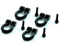 Hot Racing - 1/10 Scale Aluminum Black Tow Shackle D-Rings (4pcs) - ACC80801