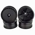 DE Racing - Borrego Buggy Wheels for Assoc B6/Kyosho RB6/Front/Black/4pcs - BB4KFB