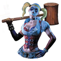 Monogram International, Inc - Arkham Asylum Bust Bank - Harley Quinn