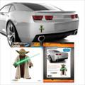 Fanwraps - Automotive Graphics - Star Wars - Jedi Master Yoda w/ Lightsaber