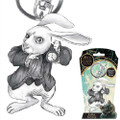 Monogram International, Inc - Alice Through The Looking Glass Keychains - Pewter Rabbit
