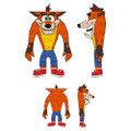 "Kidrobot - HugMe Plush - Crash Bandicoot - 16"" Crash"