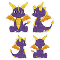 "Kidrobot - HugMe Plush - Spyro The Dragon - 16"" Spyro"