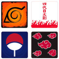 Abysse America - Naruto Accessories - Naruto Shippuden - Emblems Coasters 4-Pack