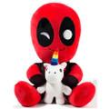 "Kidrobot - HugMe Plush - Marvel - 16"" Deadpool w/ Unicorn"