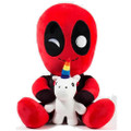 "Kidrobot - HugMe Plush - Marvel - 16"" Deadpool w/ Unicorn"