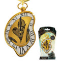 Monogram International, Inc - Alice Through The Looking Glass Keychains - Pewter Clock