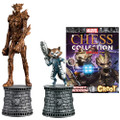 Eaglemoss Publications Ltd - Marvel Chess Figurine Collection Magazine Special #02 - Rocket Raccoon And Groot - Action Figure