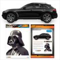 Fanwraps - Automotive Graphics - Star Wars - Darth Vader Passenger Series Window Decal
