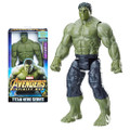 "Hasbro Inc - Avengers 3 Infinity War Movie Figures - 12"" Titan Hero Series Hulk w/ Power FX Port - AS00 - Action Figure"