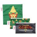 Bumkins Finer Baby Products - Legend Of Zelda Accessories - 3-Pack Reusable Snack Bag Set