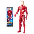 "Hasbro Inc - Avengers 3 Infinity War Movie Figures - 12"" Titan Hero Series Iron-Man w/ Power FX Port - AX00 - Action Figure"