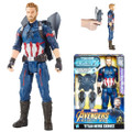"Hasbro Inc - Avengers 3 Infinity War Movie Figures - 12"" Titan Hero Series Power FX Captain America - 0000 - Action Figure"