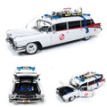 Auto World - 1:18 Scale Diecast - Ghostbusters - Ecto-1 (Cadillac Ambulance '59)