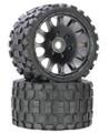 Power Hobby - Scorpion Belted Monster Truck Wheel / Tires (pr.) - Race - PHT1131R