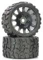 Power Hobby - Raptor Belted Monster Truck Wheel / Tires (pr.) Sport - PHT1141S