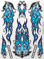 XXX Main Racing - Cold Carbon Fire Sticker Sheet - S032