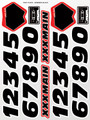 XXX Main Racing - Numbers Black Sticker Sheet - S035