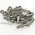 Lunsford Racing - 4.8mm Titanium Ball Stud Kit for Corally SBX-410 (14pcs) - 7738