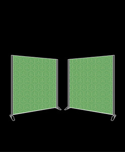 Dual 2.5m x 2.5m Freestanding Fabric Backdrop Package