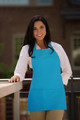 Turquoise Three Pocket Restaurant Quality Bib Apron with Adjustable Neck Strap - Available in Two Great Unisex Sizes Item # 350-200 - Best Seller!