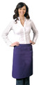 "Purple Mid-Length One Pocket with Pencil Divide Restaurant Server Bistro Apron 26"" L x 28"" W Item # 350-118"