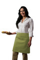 "Sage Green Two Pocket Half Bistro Restaurant Server Waist Apron 19""L x 28""W Item # 350-110"