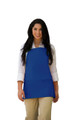 "Cobalt Blue Three Pocket Restaurant Quality Bib Apron with Adjustable Neck Strap - 24"" H x 28"" W - Item # 350-200 - Best Seller!"