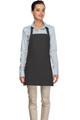 """Charcoal Gray Criss Cross Back Three Pocket Restaurant Quality Bib Apron 24"""" L x 28"""" W - Item # 350-200XX"""