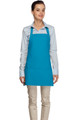 "Turquoise Criss Cross Back Three Pocket Restaurant Quality Bib Apron 24"" L x 28"" W - Item # 350-200XX"