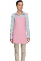 """Pink Criss Cross Back Three Pocket Restaurant Quality Bib Apron 24"""" L x 28"""" W - Item # 350-200XX"""